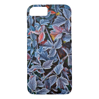 Frost en las hojas de otoño, Oregon Funda iPhone 7
