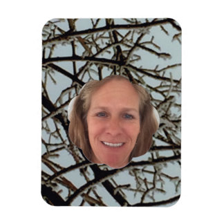 Frost Explosion Cloud Photo Frame Magnet