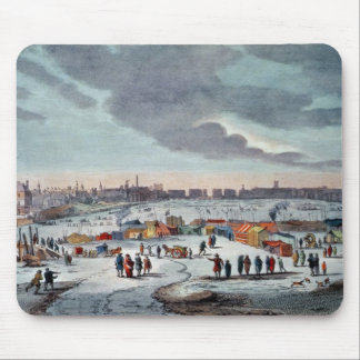 Frost Fair on the River Thames near the Temple Mouse Pad