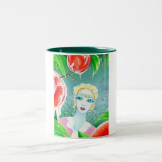 Frost Fairy in the Peach Orchard Two-Tone Coffee Mug