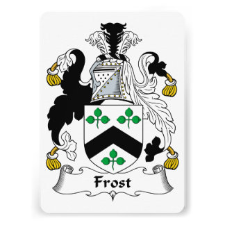Frost Family Crest Custom Announcement