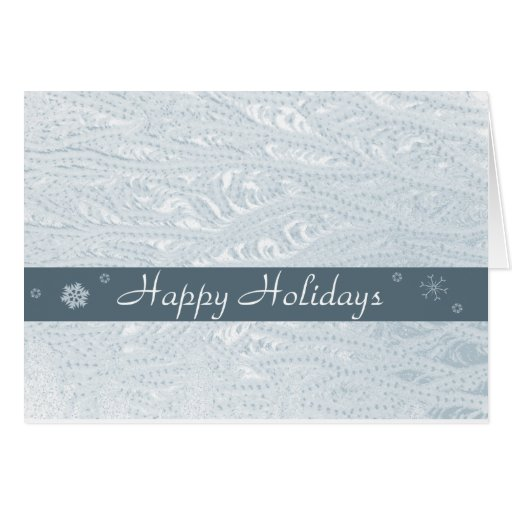 Frost holiday greeting stationery note card