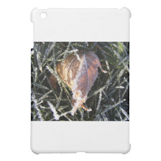 Frost on a leaf iPad mini cover