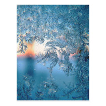 Frost On Glass Postcard