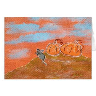 Frost On The Pumpkin Original Art Note Card