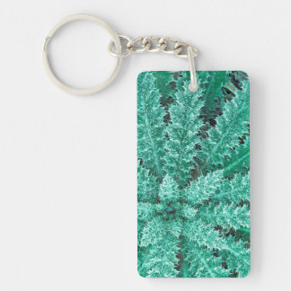 Frost On Thistle, Olympic National Park Keychain