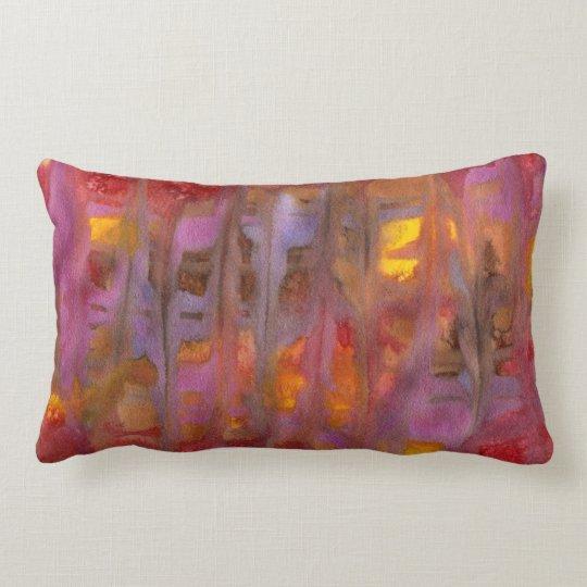 Frost over Fire Abstract Art Lumbar Pillow