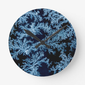 Frost patterns close-up, California Round Clock