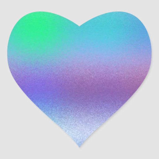 Frost reconstruido pegatina en forma de corazón