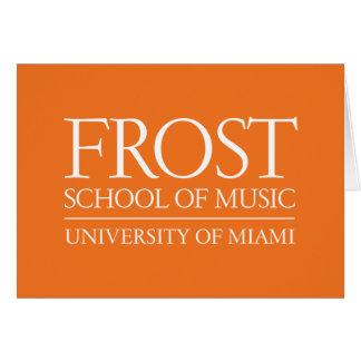 Frost School of Music Logo Card