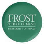 Frost School of Music Logo Dinner Plate