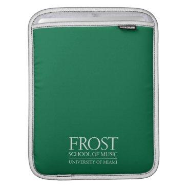 Beach Themed Frost School of Music Logo iPad Sleeve
