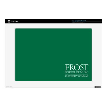 Beach Themed Frost School of Music Logo Laptop Skin