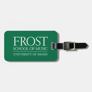 Frost School of Music Logo Luggage Tag