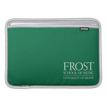 Beach Themed Frost School of Music Logo MacBook Sleeve