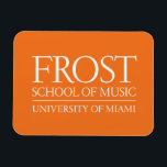 "Frost School of Music Logo Magnet<br><div class=""desc"">Check out these official Frost School of Music designs! Personalize your own Frost School of Music merchandise on Zazzle.com! Click the Customize button to insert your own name, class year, or club to make a unique product. Try adding text using various fonts &amp; view a preview of your design! Zazzle&#39;s...</div>"