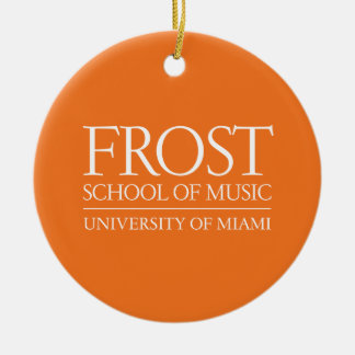 Frost School of Music Logo Christmas Tree Ornament