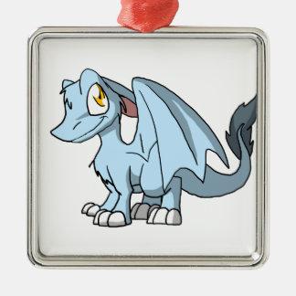 Frost SD Furry Dragon Metal Ornament