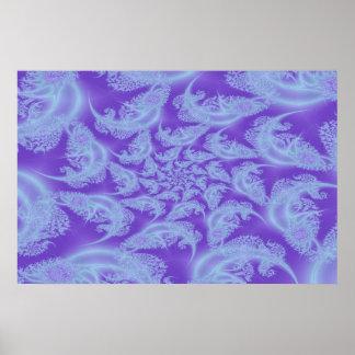 Frost Spiral Fractal Print