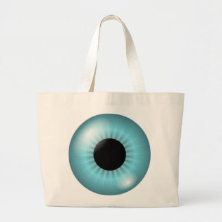 Frost Teal Blue Eye Large Tote Bag