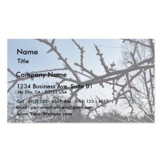 Frostbitten Twig Frosen Tree Double-Sided Standard Business Cards (Pack Of 100)