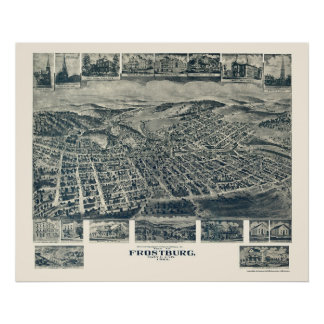 Frostburg, MD Panoramic Map - 1905 Poster