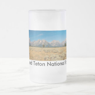 Frosted 16 oz Frosted Glass Mug Teton Park