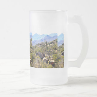 "Frosted 16oz. Mug ""Saguaro in Mountains"""