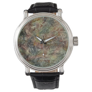 Frosted Autumn Abstract Art Wrist Watch