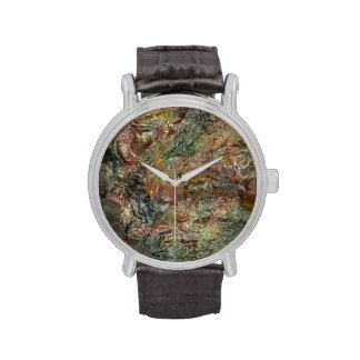Frosted Autumn Abstract Art Wristwatch