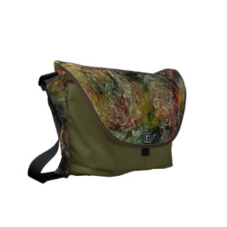 Frosted Autumn Abstract Pattern Courier Bag