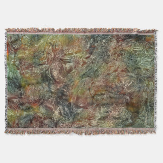 Frosted Autumn Abstract Throw