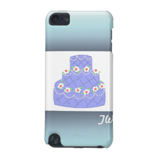 Frosted Baby Blue Wedding Cake iPod Touch 5G Covers