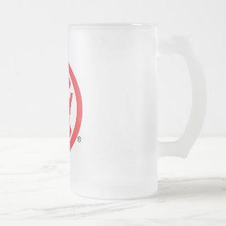 Frosted Beer Mug - CLUBWAKA Logo Icon