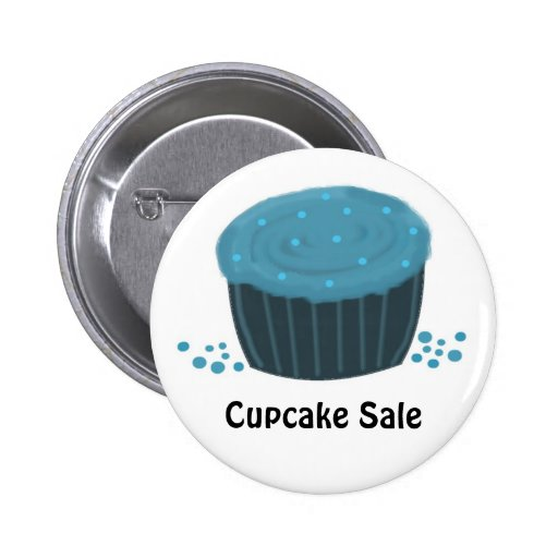 Frosted Blue Cupcake - Cupcake Sale Button