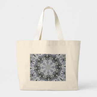 Frosted Blue Flower Fractal Jumbo Tote Bag