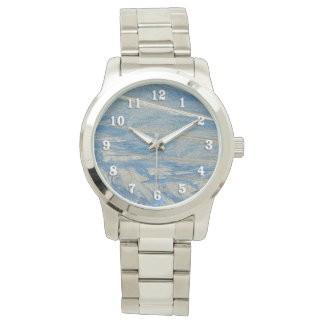 Frosted Blue with White Numbers Watches