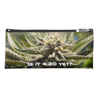 Frosted Marijuana Bud Pencil Case - Legal Cannabis Day