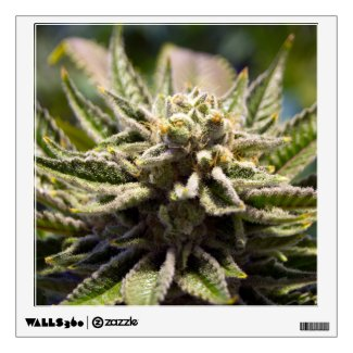 Frosted Marijuana Bud Movable Wall Sticker - Legal Cannabis Day