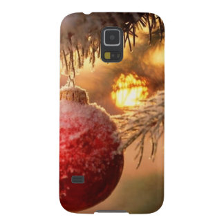 Frosted Christmas Ornament Nestled In The Pine Galaxy S5 Cover