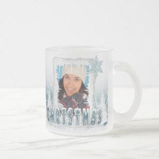 Frosted Christmas photo mug