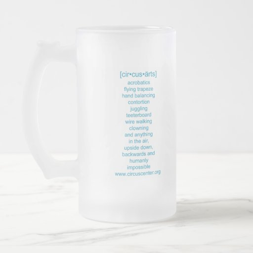 Frosted Circus Center Cup Mugs