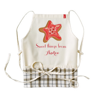 Frosted Cupcake Sweet Things Custom Name A03 Zazzle HEART Apron
