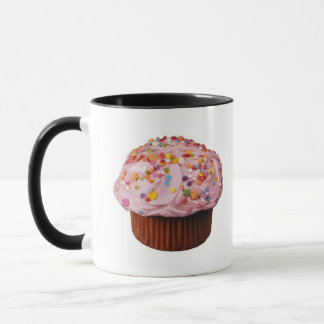 Frosted cupcake with sprinkles mug