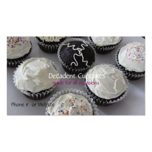 Frosted Cupcakes Business Card