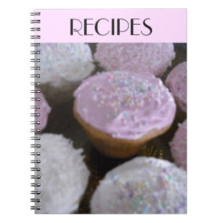 Frosted Cupcakes Spiral Notebook