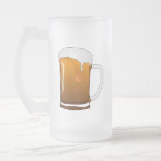 Frosted customizable beer mug