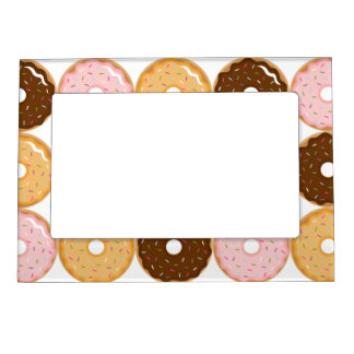 Frosted Donut Pattern Magnetic Photo Frame