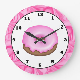 Frosted Donut sweet treat wall clock