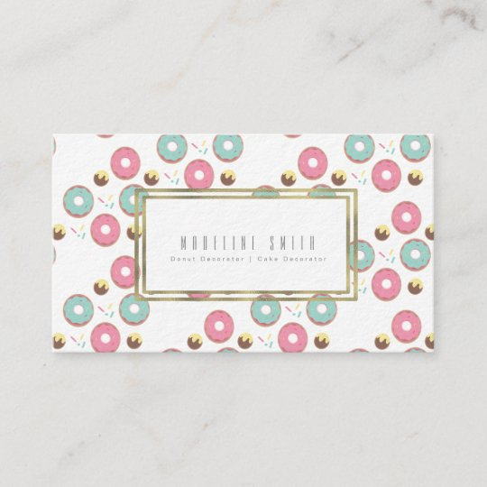 Frosted Donuts Baker Donut Cake Decorator Business Card